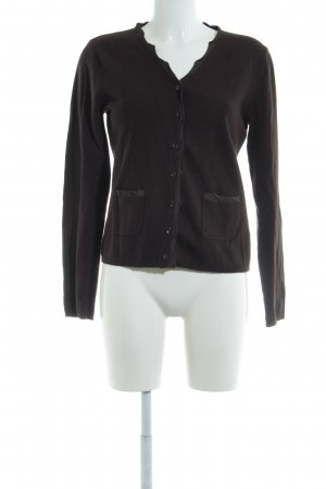 Gerry Weber Strickjacke dunkelbraun Casual-Look