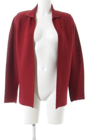 Gerry Weber Giacca in maglia rosso scuro stile classico