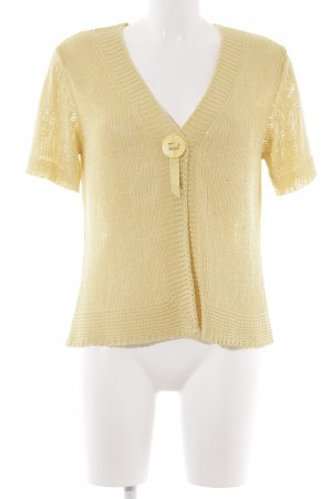 Gerry Weber Strickjacke goldfarben Casual-Look