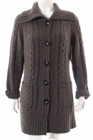Gerry Weber Strickjacke graubraun Casual-Look