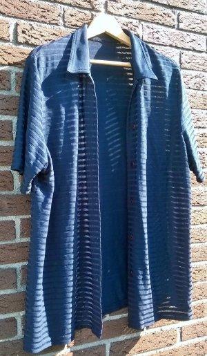 Gerry Weber Gebreid jack met korte mouwen donkerblauw-blauw Viscose