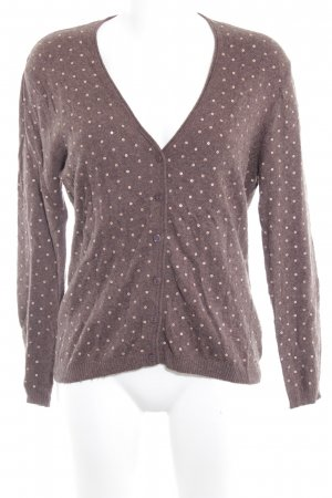 Gerry Weber Strickjacke hellbraun Glanz-Optik