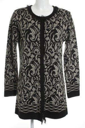 Gerry Weber Strickjacke schwarz-braun abstraktes Muster klassischer Stil