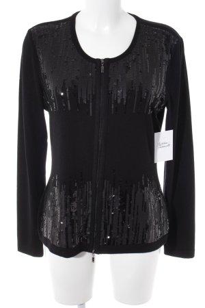 Gerry Weber Giacca in maglia nero stile casual