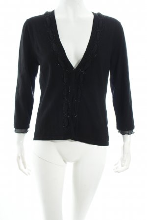 Gerry Weber Strickjacke schwarz Eleganz-Look