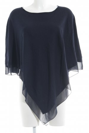 Gerry Weber Strickponcho dunkelblau Casual-Look