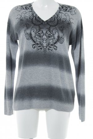 Gerry Weber Knitted Sweater light grey-black casual look