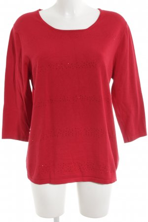 Gerry Weber Knitted Sweater red casual look