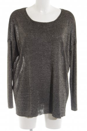 Gerry Weber Knitted Sweater black-gold-colored elegant
