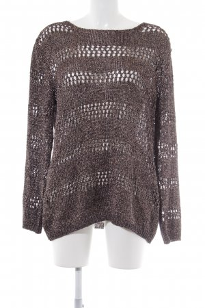 Gerry Weber Knitted Sweater black-rose-gold-coloured loosely knitted pattern