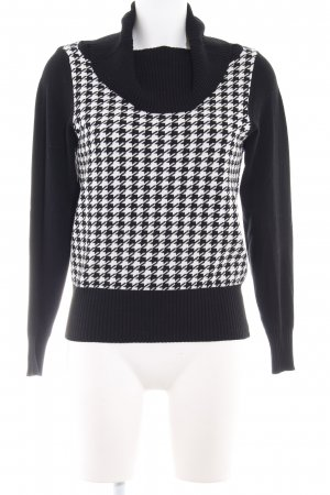 Gerry Weber Knitted Sweater black-white houndstooth pattern Brit look
