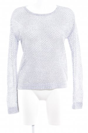 Gerry Weber Strickshirt weiß-silberfarben Casual-Look