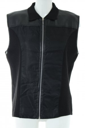 Gerry Weber Gilet tricoté noir style décontracté