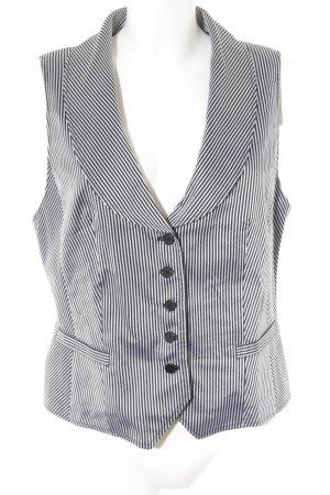 Gerry Weber Smanicato lavorato a maglia nero-grigio chiaro motivo a righe