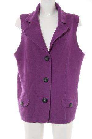 Gerry Weber Chaleco de punto violeta look casual
