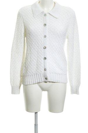 Gerry Weber Gebreid vest wit losjes gebreid patroon simpele stijl