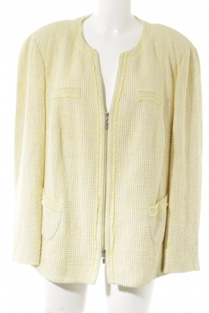 Gerry Weber Sweatblazer blassgelb-weiß Business-Look