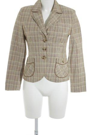 Gerry Weber Sweat Blazer cream-cognac-coloured check pattern classic style