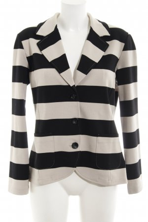 Gerry Weber Sweat Blazer cream-black striped pattern business style