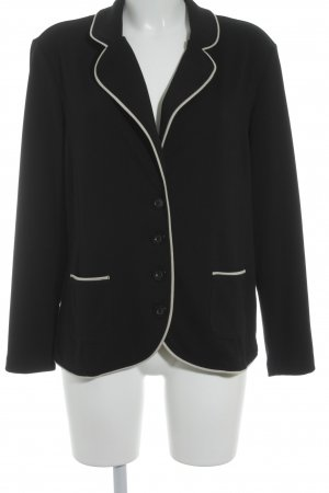 Gerry Weber Sweatblazer schwarz-creme Business-Look