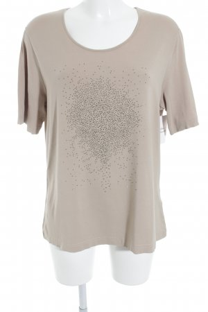 Gerry Weber T-Shirt beige Glitzer-Optik
