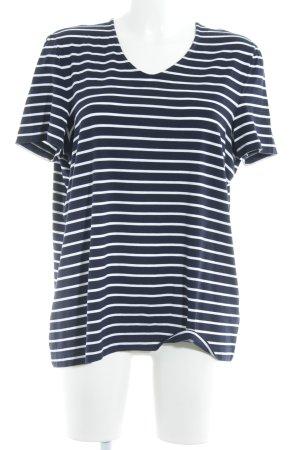 Gerry Weber Camiseta azul oscuro-blanco estampado a rayas look casual