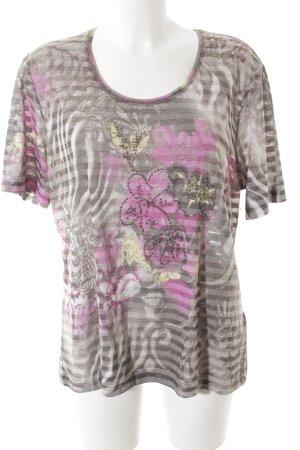 Gerry Weber T-shirt rosa-cachi motivo a righe stile da moda di strada