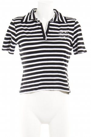 Gerry Weber T-shirt nero-bianco motivo a righe stile casual