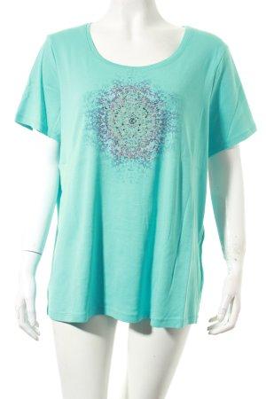 Gerry Weber T-Shirt türkis Motivdruck Glitzersteinverzierung