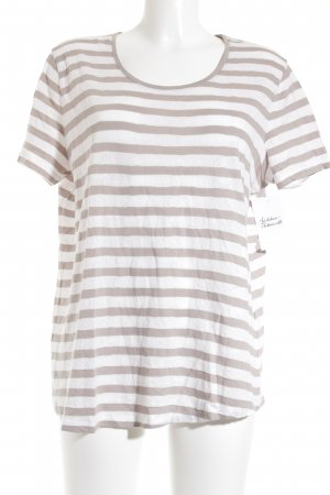 Gerry Weber T-Shirt weiß-beige Streifenmuster Casual-Look