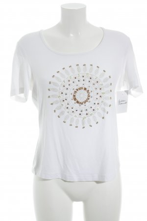 Gerry Weber T-shirt bianco Stampa a tema stile casual