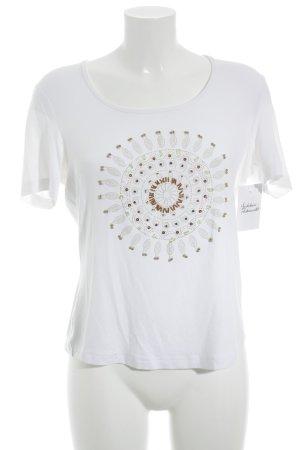 Gerry Weber T-Shirt weiß Motivdruck Casual-Look