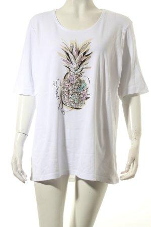 Gerry Weber T-Shirt weiß Motivdruck klassischer Stil