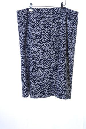 Gerry Weber Jupe corolle bleu-noir motif de fleur style décontracté