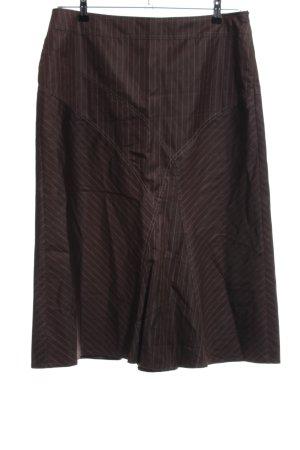 Gerry Weber Jupe corolle brun motif rayé style décontracté