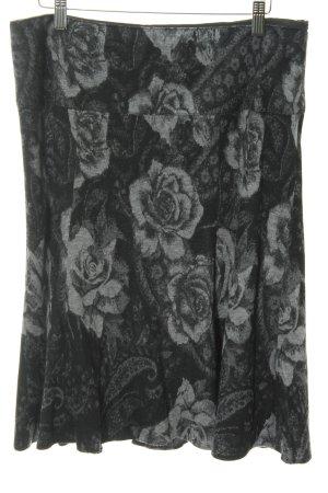 Gerry Weber Falda circular negro-gris claro estampado floral look casual