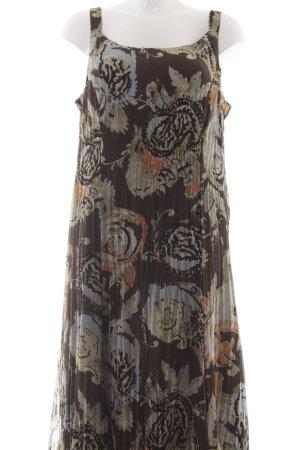 Gerry Weber Trägerkleid graubraun abstraktes Muster Elegant