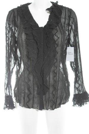 Gerry Weber Blusa trasparente nero stile casual