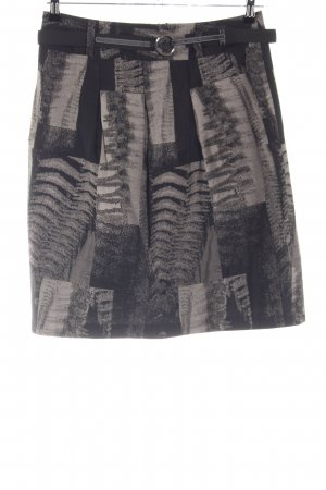 Gerry Weber Tulprok lichtgrijs-zwart abstract patroon casual uitstraling