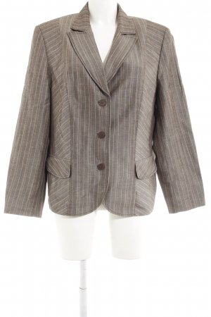 Gerry Weber Tweedblazer graubraun Nadelstreifen Business-Look