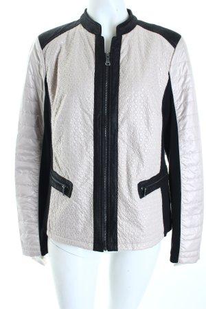 Gerry Weber Übergangsjacke beige-schwarz Materialmix-Look
