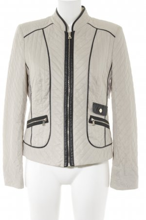 Gerry Weber Übergangsjacke schwarz-beige Streifenmuster Casual-Look