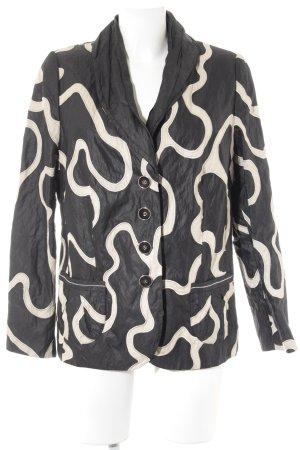 Gerry Weber Übergangsjacke schwarz-creme abstraktes Muster Casual-Look