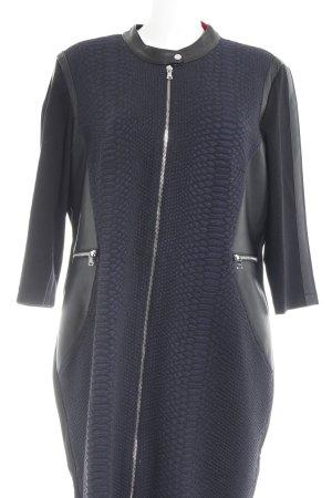 Gerry Weber Übergangsmantel schwarz-dunkelblau Animalmuster Street-Fashion-Look