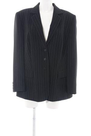 Gerry Weber Unisex Blazer black striped pattern business style
