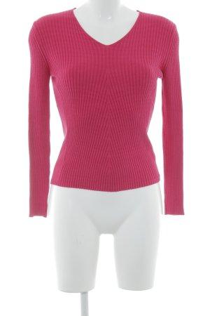Gerry Weber V-Ausschnitt-Pullover magenta Casual-Look