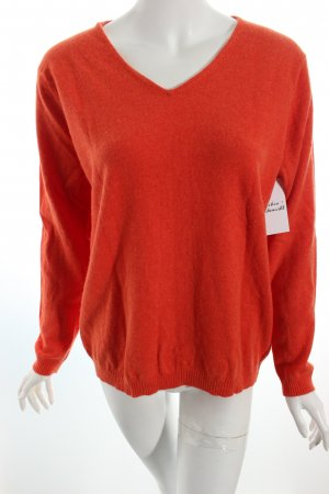 Gerry Weber V-Ausschnitt-Pullover orange Casual-Look