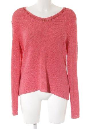 Gerry Weber V-Ausschnitt-Pullover pink Street-Fashion-Look