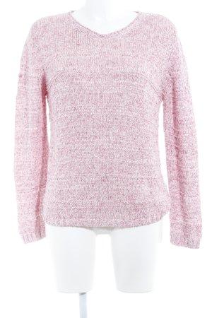 Gerry Weber V-Ausschnitt-Pullover rosa-hellrosa meliert Casual-Look