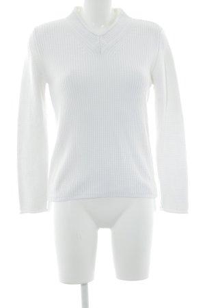 Gerry Weber V-Ausschnitt-Pullover weiß Casual-Look
